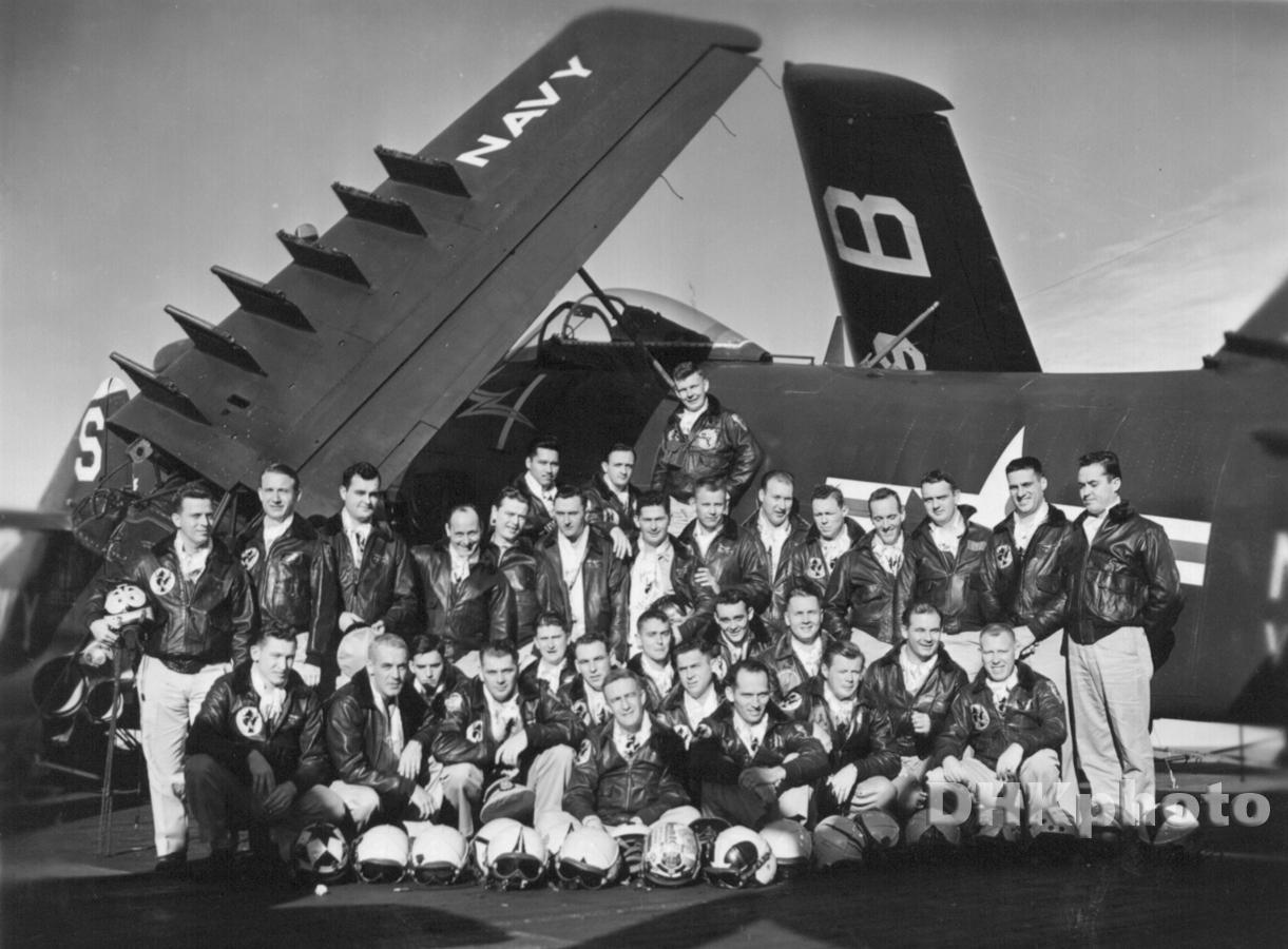 VF-194 Officers, USS Boxer, Korea, 1953