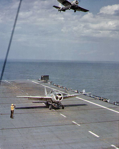 FM-2s Off the USS Charger