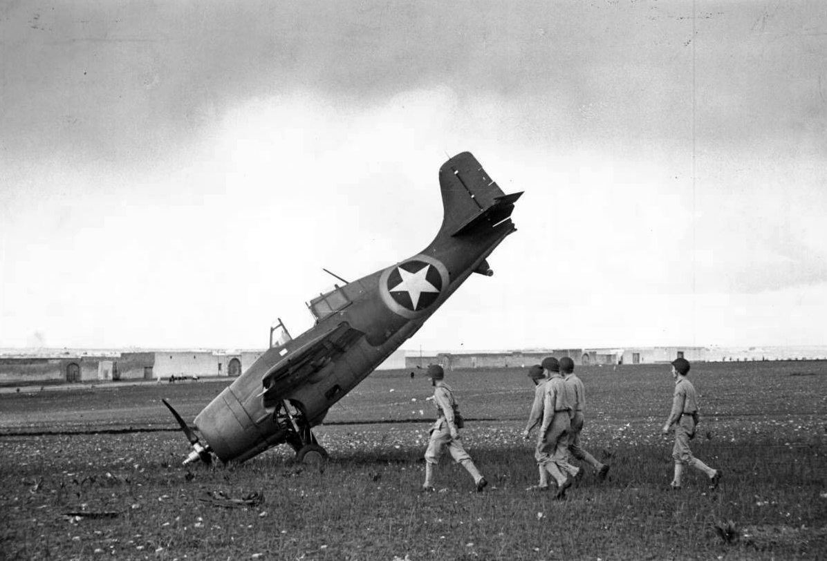 F4F Nosed Over During Operation TORCH