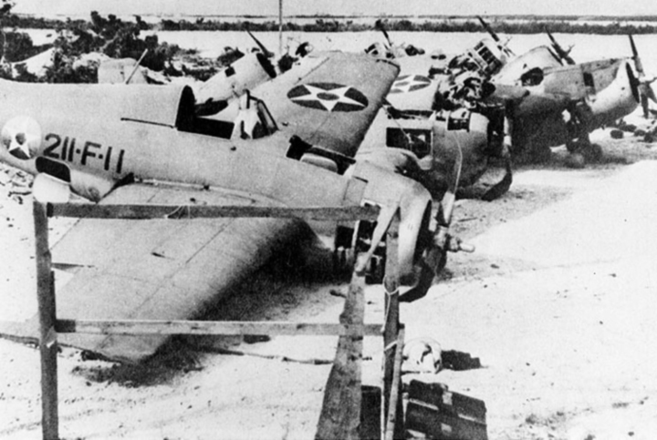 F4F Wrecks At Wake Island